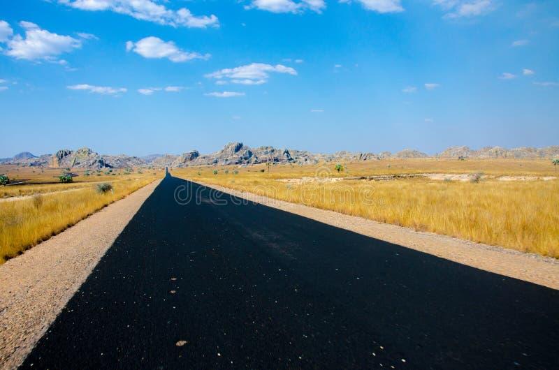 Roadtrip en Madagaskar en el desierto foto de archivo
