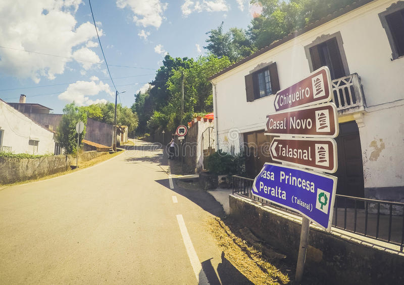 RoadTrip en Serra DA Lousã imagenes de archivo