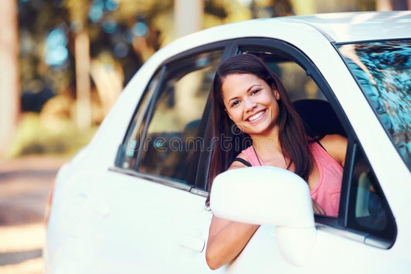 Download Roadtrip woman happy stock photo. Image of beautiful - 29028050