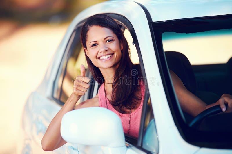 Roadtrip Woman Happy Royalty Free Stock Photos