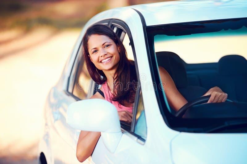 Roadtrip Woman Happy Stock Photography