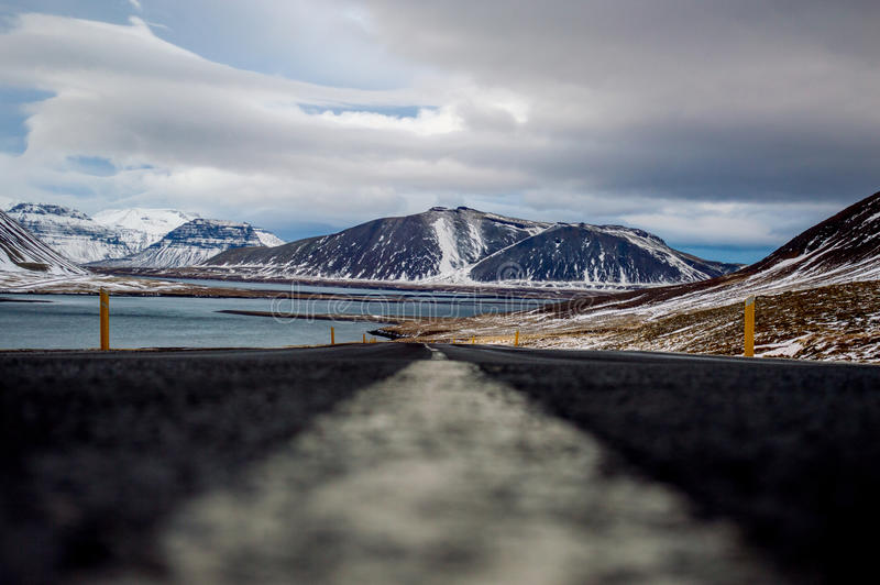Roadtrippin' in Iceland during winter royalty free stock photo