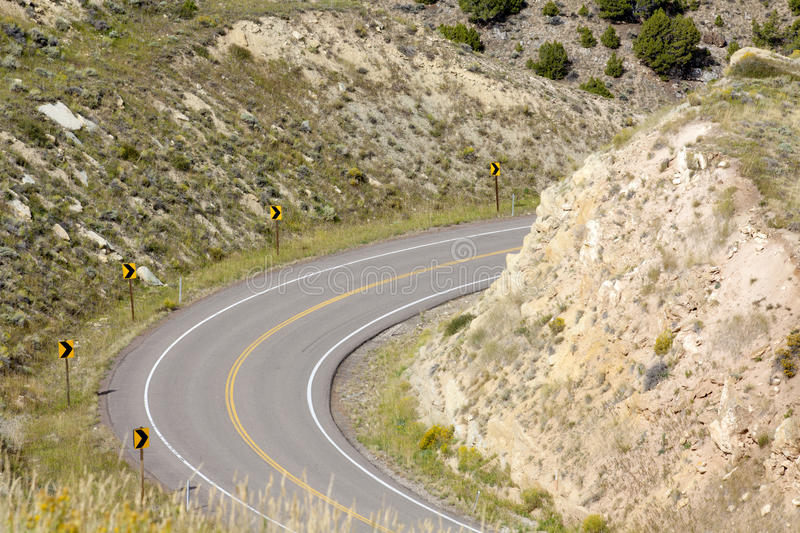 Download Roadway Curve stock image. Image of hill, path, cloud - 21854575