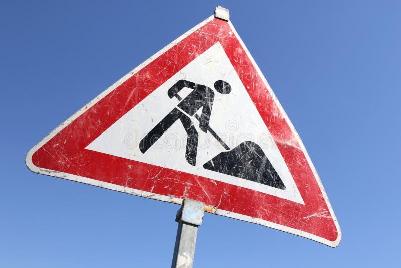 roadworks royaltyfria bilder