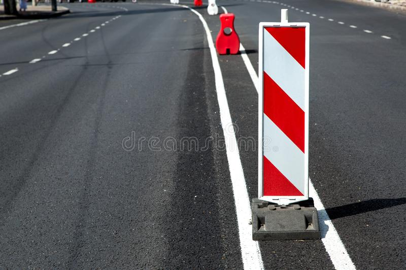 Road signs in a highway. stock images