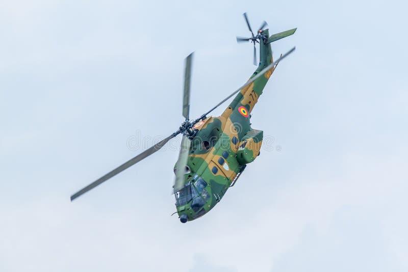 RoAF IAR330 puma Przy BIAS2015 zdjęcie stock