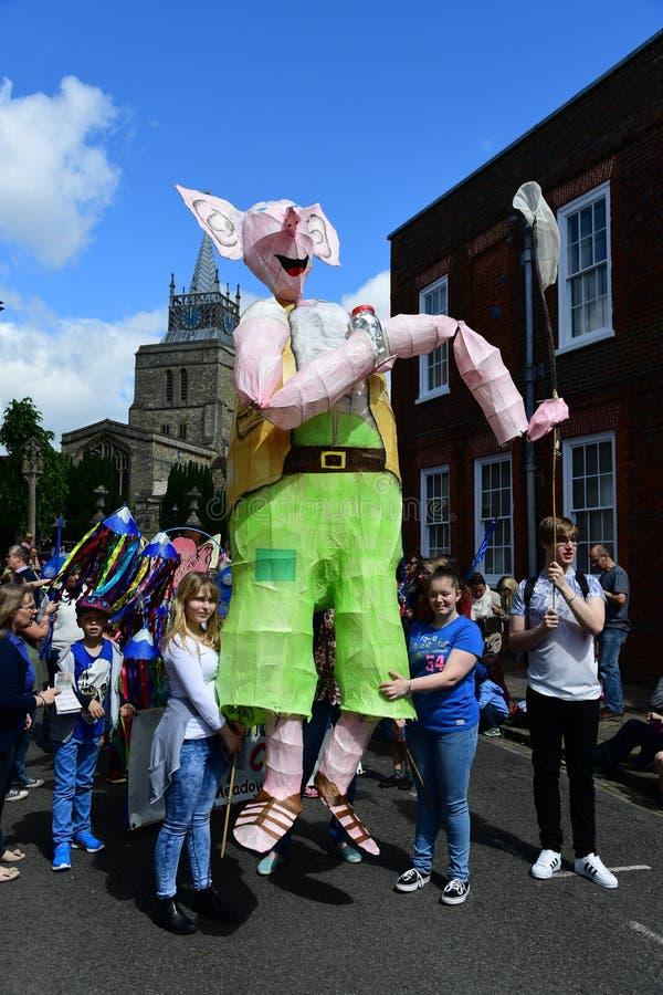Roald Dahl Carnival Aylesbury, Buckinghamshire foto de stock royalty free
