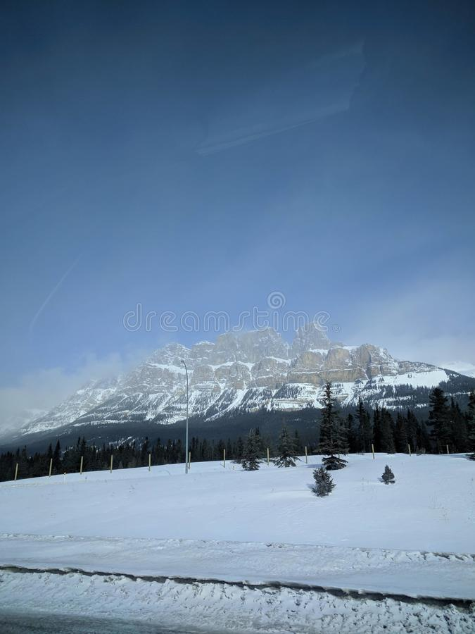 Roaming around Banff, Alberta, Calgary in winter stock images