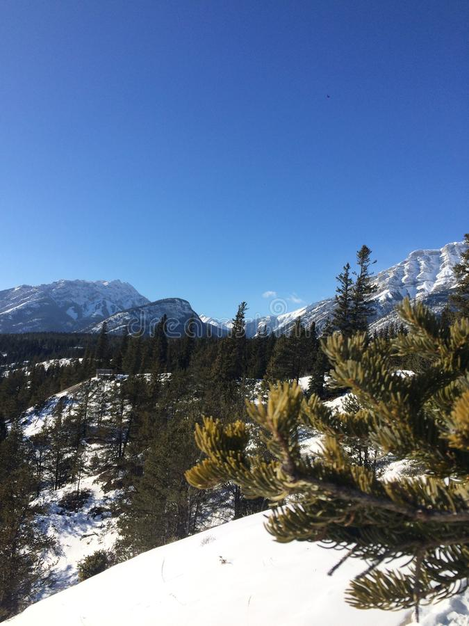 Roaming around Banff, Alberta, Calgary in winter. Weekend getaway to Banff National Park, Alberta. The road view was amazing royalty free stock images