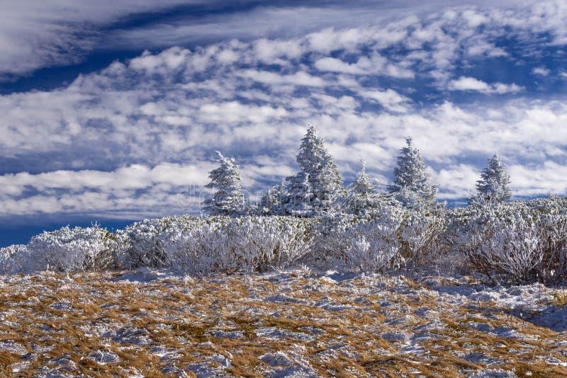 Roan поход 8 зимы горы стоковая фотография rf
