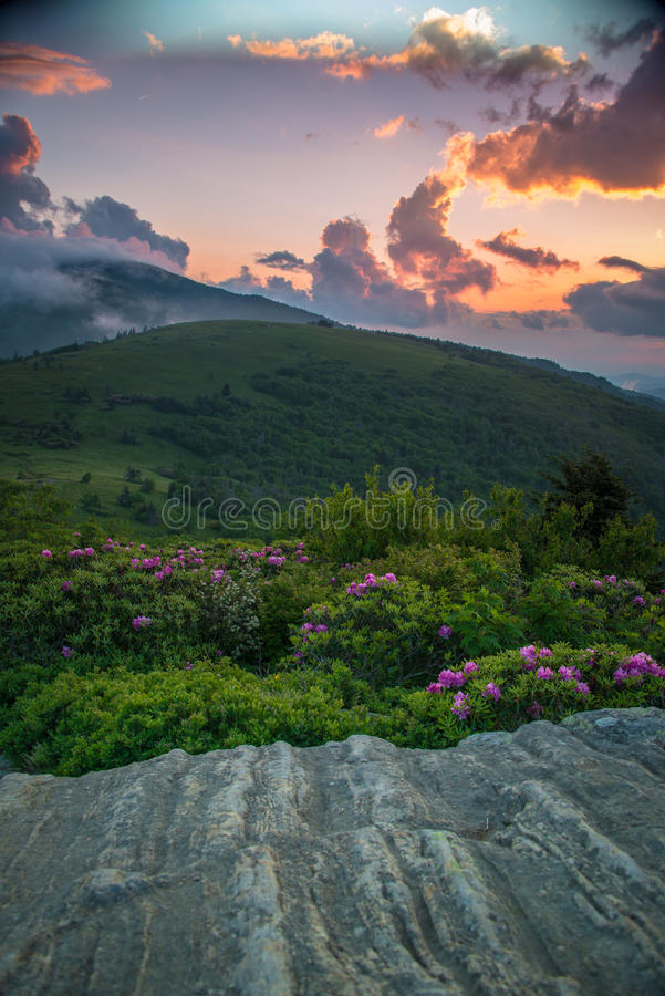 Download Roan Highlands sunset stock image. Image of mountains - 35137015