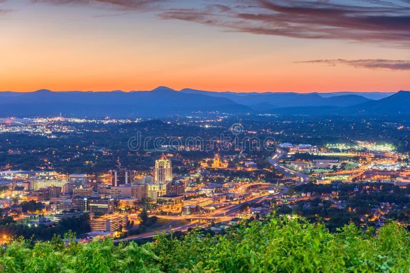 Roanoke, Вирджиния, горизонт США стоковые фотографии rf