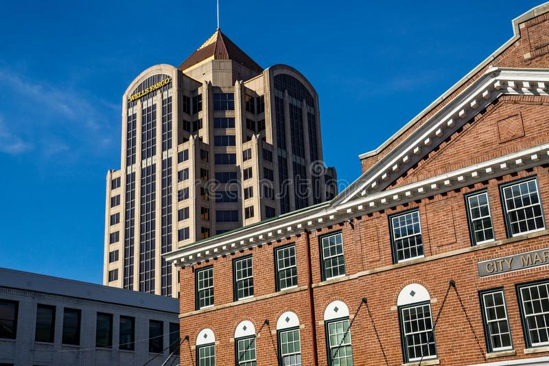 View of Wells Fargo Tower royalty free stock photography