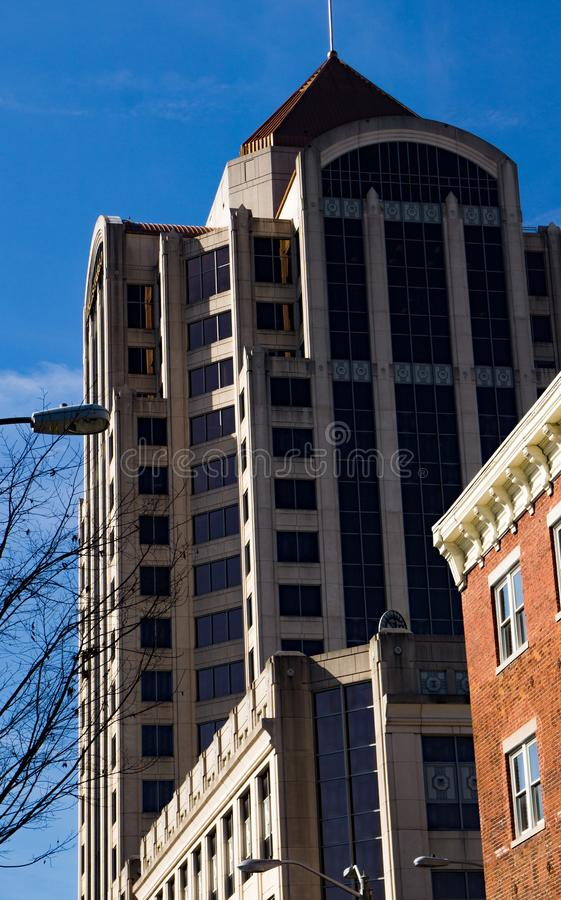 View of Wells Fargo Tower stock photography