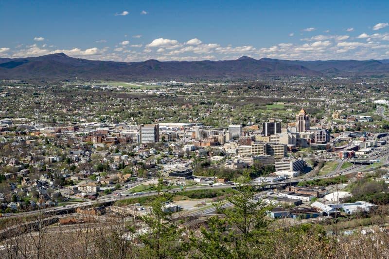 Roanoke dolina od Młyńskiej góry, Virginia, usa fotografia stock