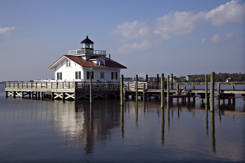 Roanoke-Insel-Leuchtturm stockbild