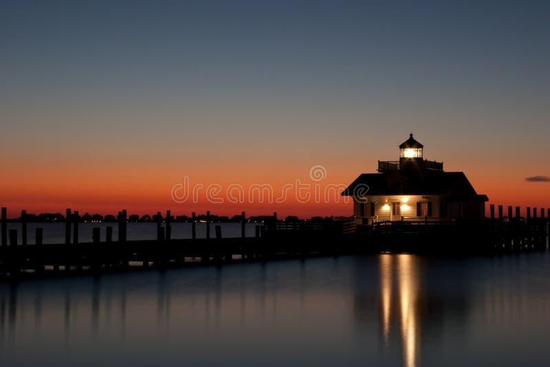 Roanoke Marshes Lighthouse. Lighthouse at Manteo, on Roanoke Island, North Carolina stock photo