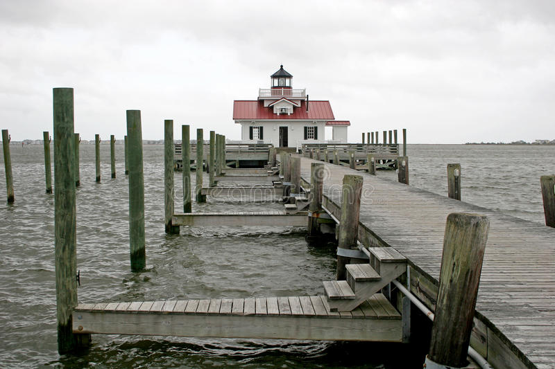 Roanoke marshes lighthouse. In Manteo royalty free stock photo