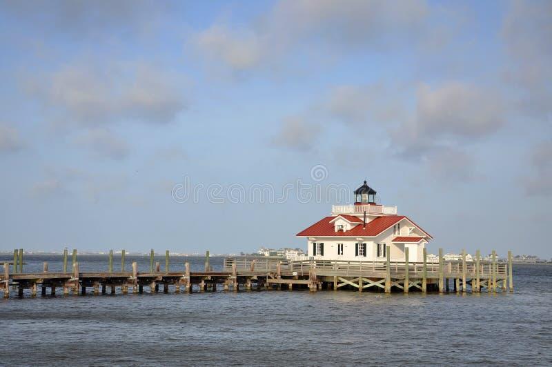 Roanoke Marshes Lighthouse. In Roanoke Island, Manteo, North Carolina, USA royalty free stock images