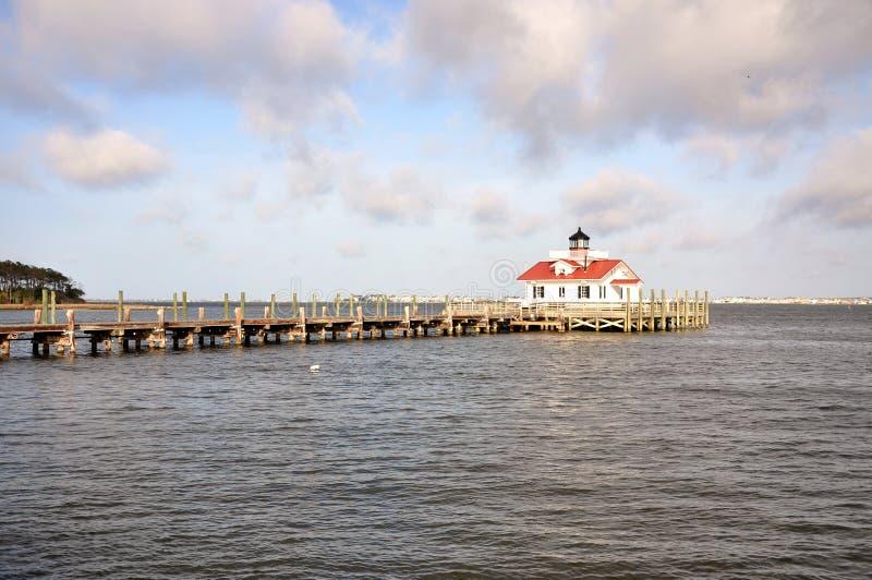 Roanoke Marshes Lighthouse. In Roanoke Island, Manteo, North Carolina, USA stock photography