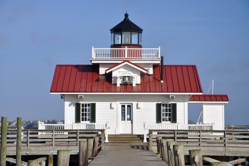 Roanoke Marshes Lighthouse. In Roanoke Island, Manteo, North Carolina, USA royalty free stock photography