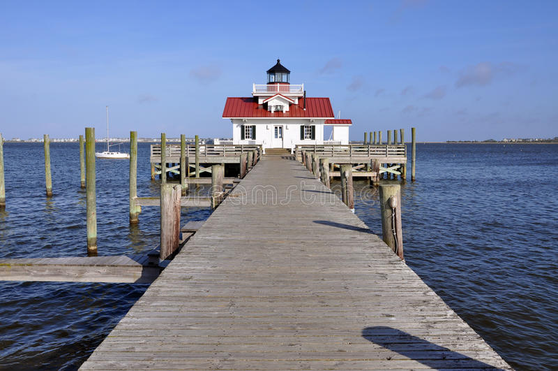Roanoke Marshes Lighthouse. In Roanoke Island, Manteo, North Carolina, USA stock photos