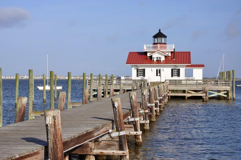 Roanoke Marshes Lighthouse, North Carolina, USA. Roanoke Marshes Lighthouse in Roanoke Island, Manteo, North Carolina, USA stock images