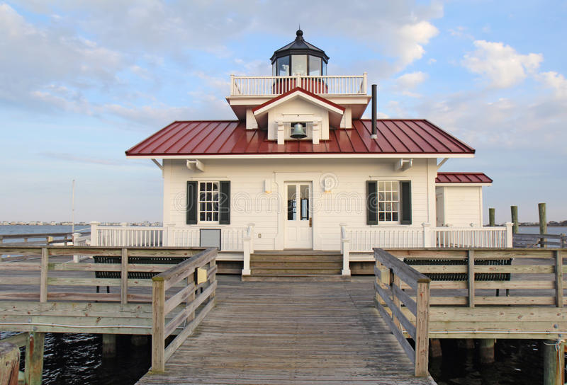 The Roanoke Marshes Lighthouse. This is a replica of the original Roanoke Marshes Light which was at the southern entrance to Croatan Sound near Wanchese, North stock photos