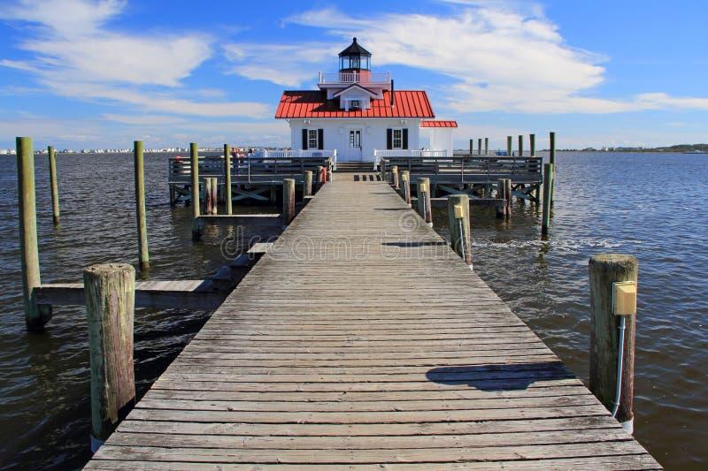Roanoke Marshes Lighthouse. In Manteo, North Carolina stock image
