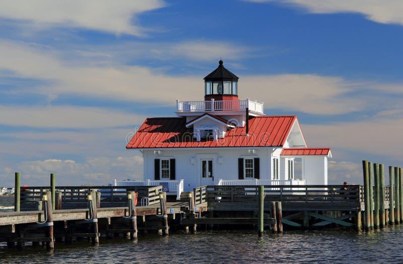 Roanoke Marshes Lighthouse. In Manteo, North Carolina royalty free stock photo
