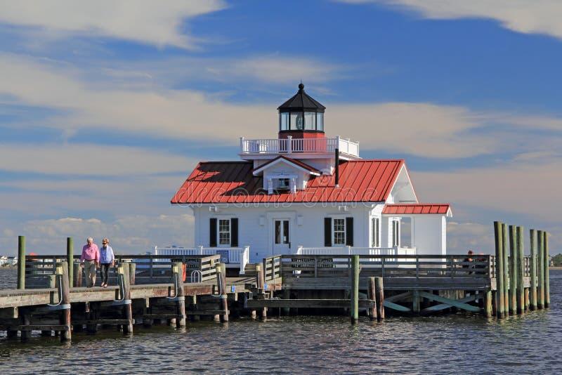 Roanoke Marshes Lighthouse. In Manteo, North Carolina royalty free stock images