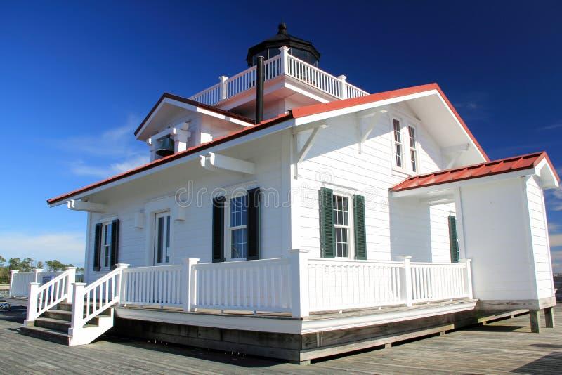 Roanoke Marshes Lighthouse. In Manteo, North Carolina stock photos