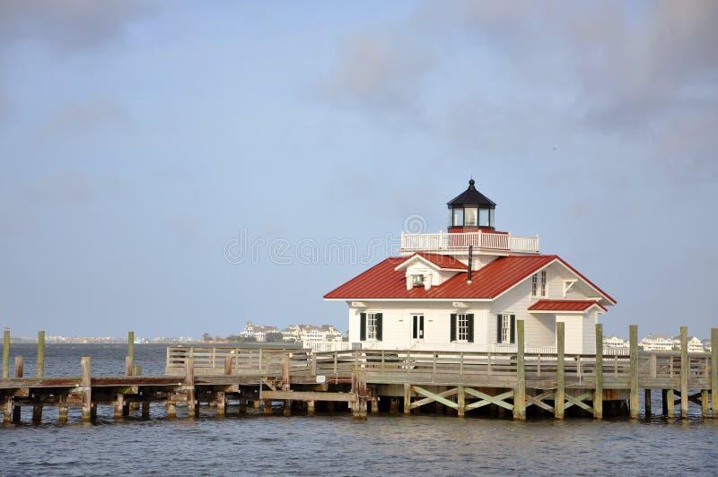 Roanoke Marshes Lighthouse, North Carolina, USA. Roanoke Marshes Lighthouse in Roanoke Island, Manteo, North Carolina, USA stock photo