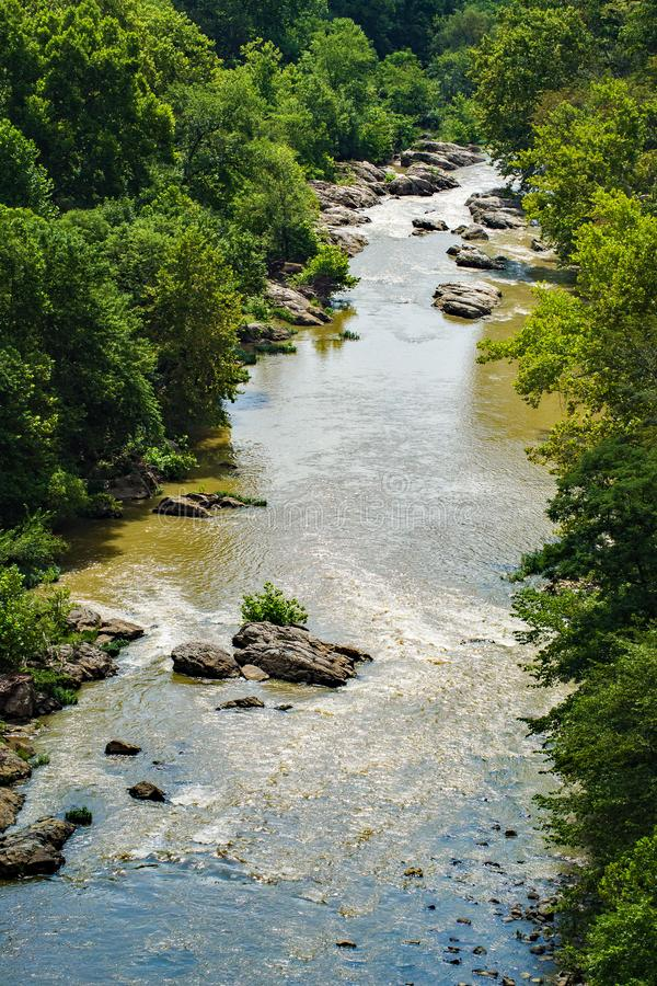 Roanoke River Gorge in the Blue Ridge Mountains - 2. View of the Roanoke River Gorge from the Blue Ridge Parkway located in Roanoke County, Virginia, USA stock photography