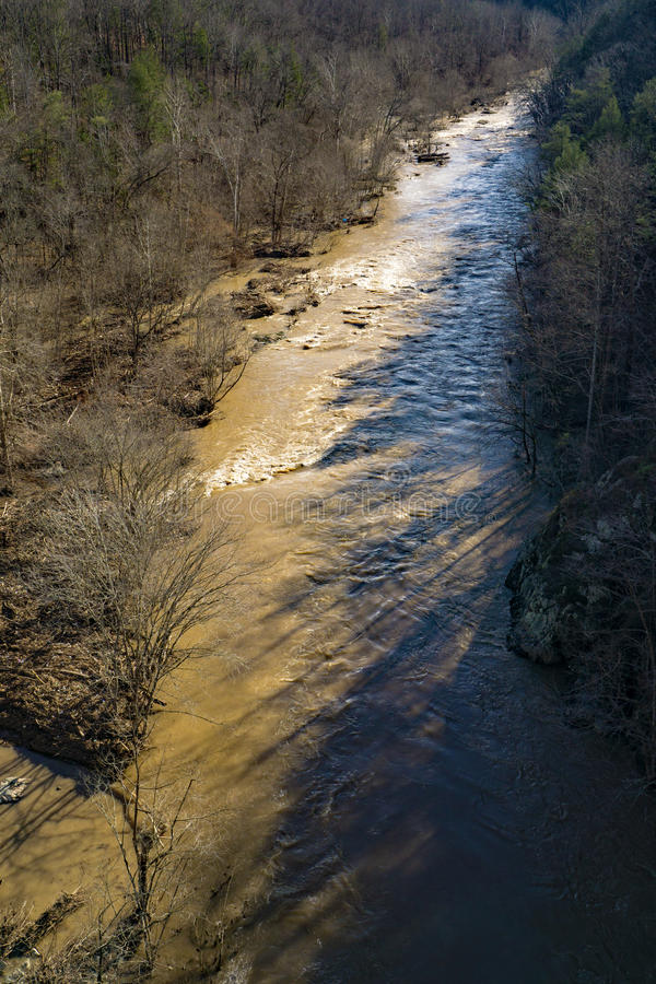 The Roanoke River Gorge stock image