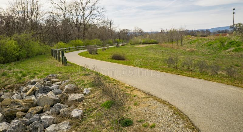 The Roanoke River Greenway royalty free stock photography