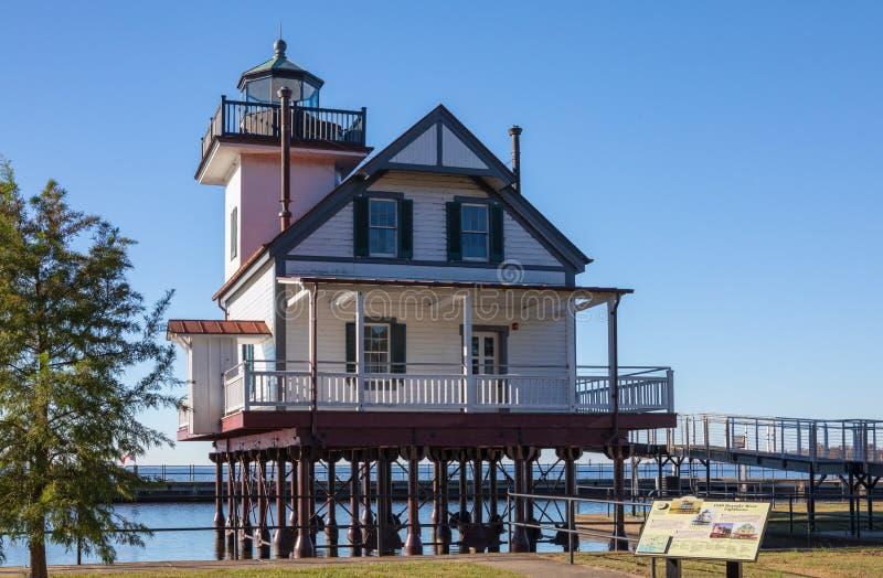 Roanoke River Lighthouse Edenton North Carolina stock photo