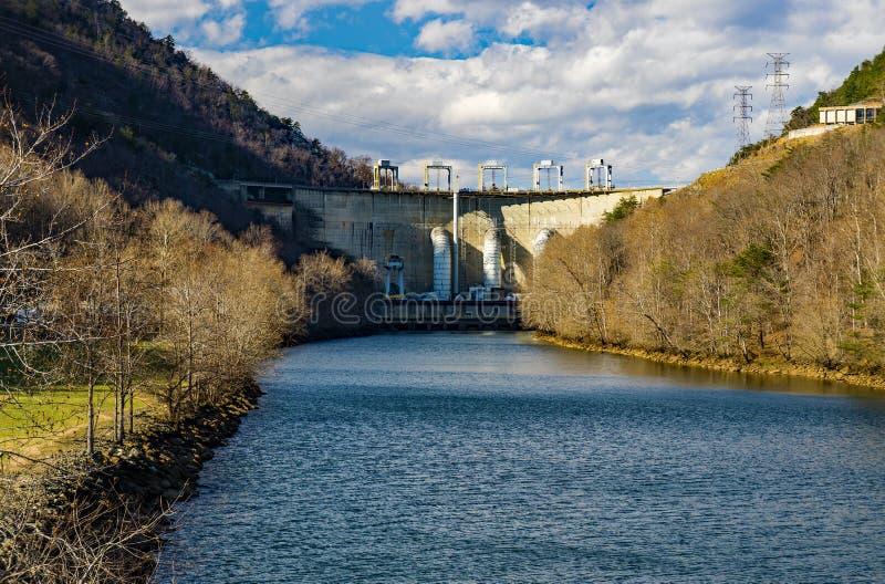 Roanoke River View of the Smith Mountain Hydroelectric Dam - 3. Sandy Level, VA – January 8th:Roanoke River view of the Smith Mountain Hydroelectric Dam stock photos