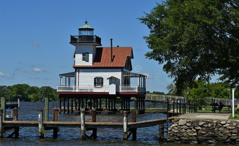 Roanoke Rzeczna latarnia morska Edenton NC zdjęcia royalty free