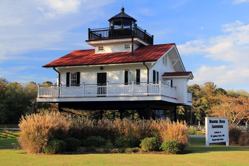 Roanoke rzeki latarnia morska obrazy stock