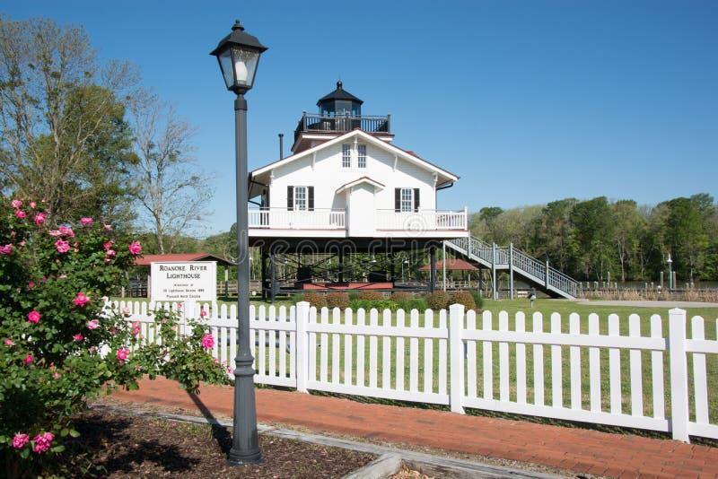Roanoke rzeki latarnia morska zdjęcie stock