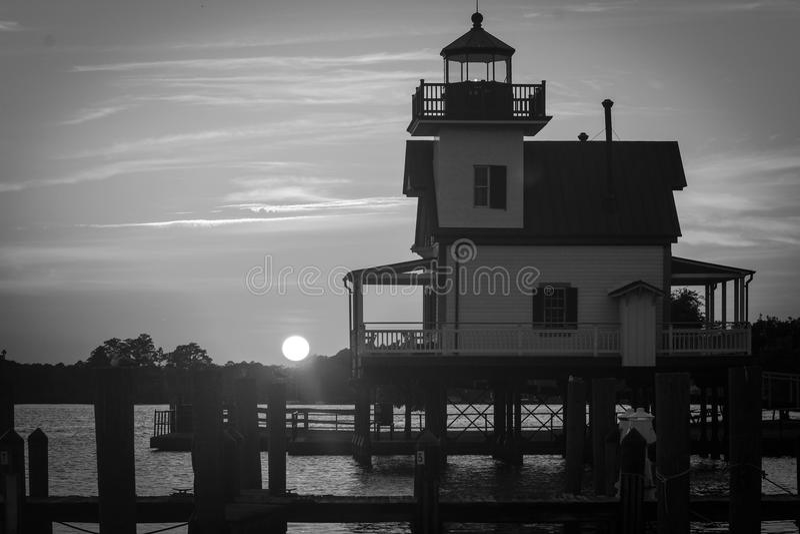 Roanoke rzeki latarnia morska fotografia royalty free