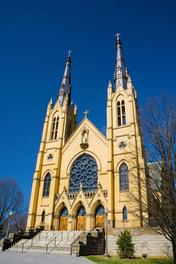 Saint Andrew Catholic Church - 3. Roanoke, VA – February 27th: Beautiful Saint Andrew Catholic Church located in Roanoke, Virginia, USA. February 27th: 2018 stock image