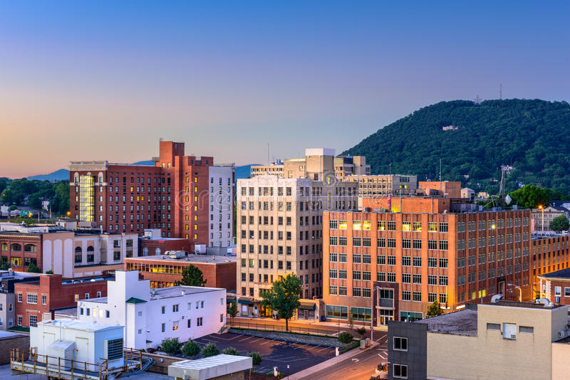 Roanoke Virginia Cityscape. Roanoke, Virginia, USA downtown skyline stock images