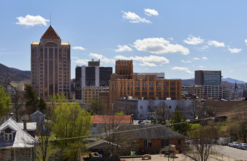 Roanoke, Virginia Skyline fotografia stock