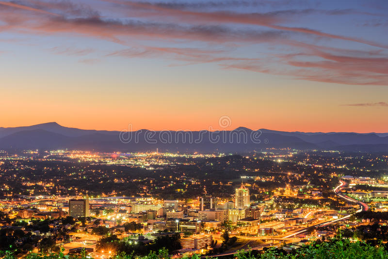 Roanoke, Virginia Skyline stock fotografie