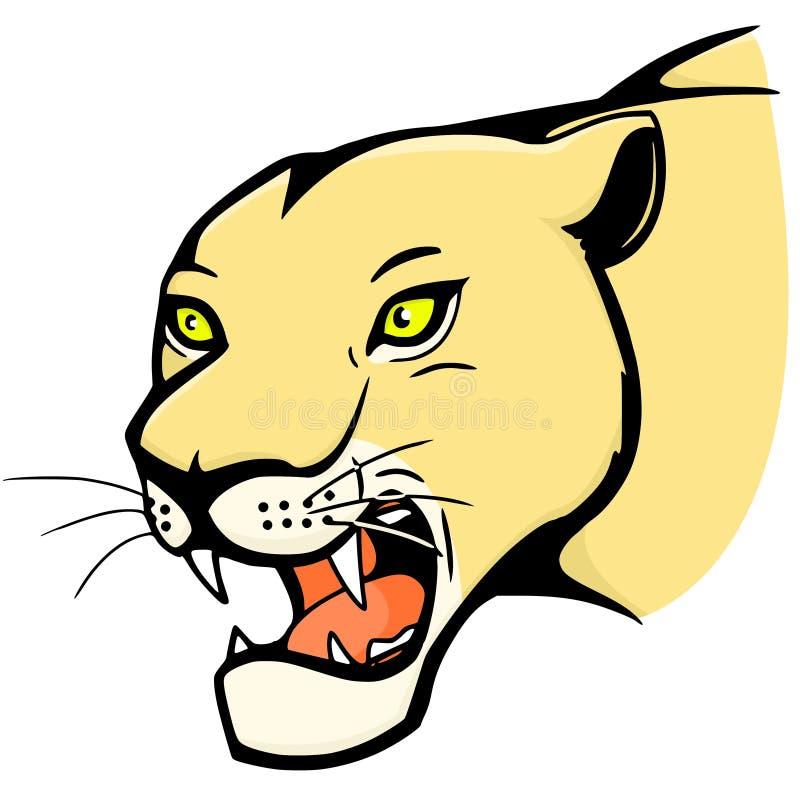 Download Roaring big cat stock vector. Image of lion, africa, sign - 15006125