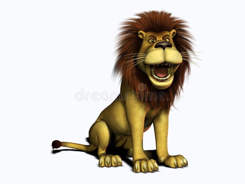 Download Roaring Cartoon Lion Stock Illustration Of Mane