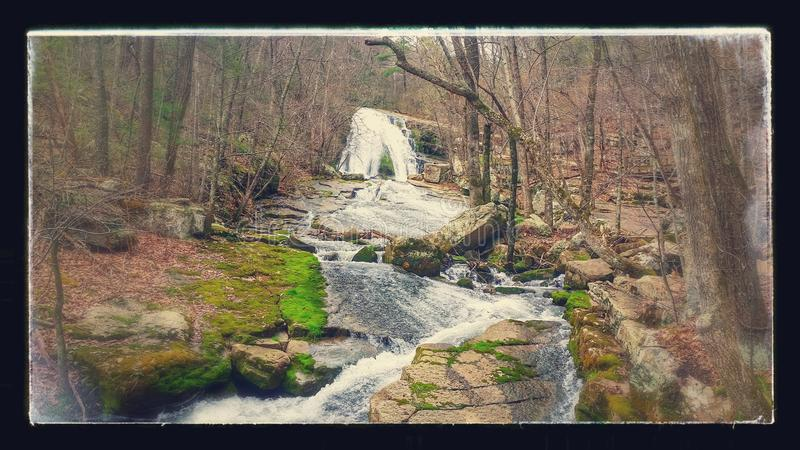 Roaring run waterfall stock images