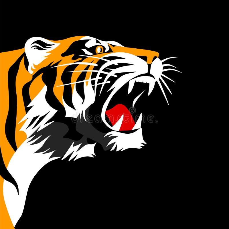 Download Roaring tiger stock vector. Image of black, copy, looks - 20659606
